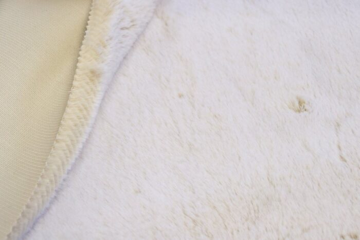 Faux fur by the metre Sand/White Rabbit Luxurious Faux Fur Fabric By The Metre – 1633 Sand/White