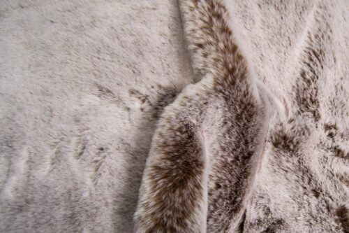 Faux fur by the metre Chestnut/White Luxurious Rabbit Faux Fur Fabric By The Metre – 2103 Chestnut/White