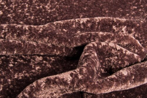 Faux fur by the metre Super Soft Prune Short-haired and Curly Faux Fur Fabric by The Metre – 2R355 Prune