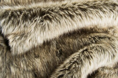 Faux fur by the metre Grey Wolf Faux Fur Fabric By The Metre – 3054 Arctic Grey