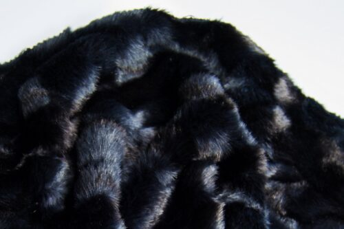 Faux fur by the metre Alligator Skin Textured Blue Faux Fur Fabric By The Metre – 3056 Alligator Blue