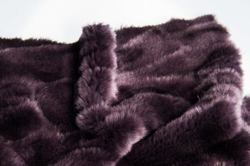 Faux fur by the metre Alligator Skin Textured Purple Faux Fur Fabric By The Metre – 3056 Purple