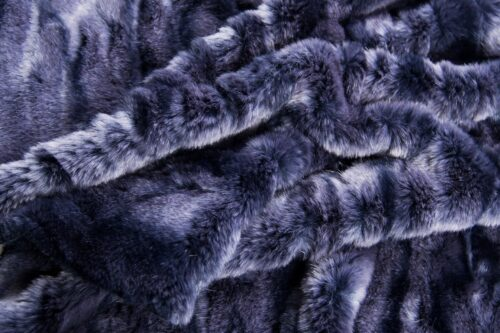 Faux fur by the metre Alligator Skin Textured Silver Blue Faux Fur Fabric By The Metre – 3056 Silver/Blue
