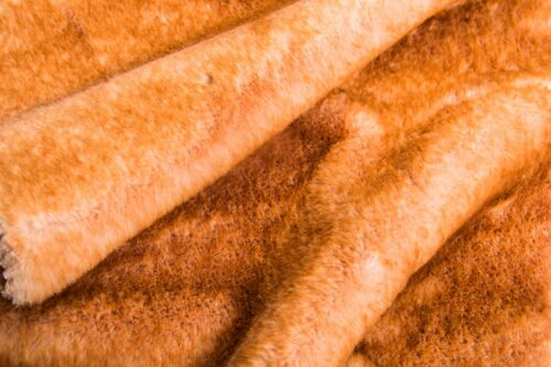 Faux fur by the metre Apricot Rabbit Faux Fur Fabric By The Metre – 3090 Apricot