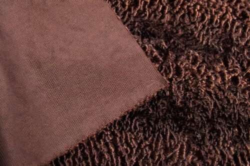 Faux fur by the metre Wine Red Astrakan Faux Fur Fabric By The Metre – 3118 Dk. Wine