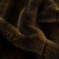 Faux fur by the metre Natural Brown Mink Faux Fur Fabric By The Metre – 3125 Brown/Dk.Brown