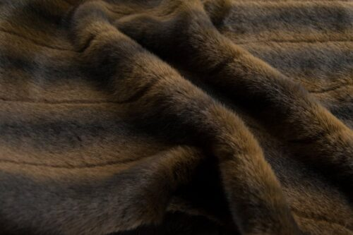 Faux fur by the metre Natural Brown Mink Faux Fur Fabric By The Metre – 3125 Brown/Dk.Brown