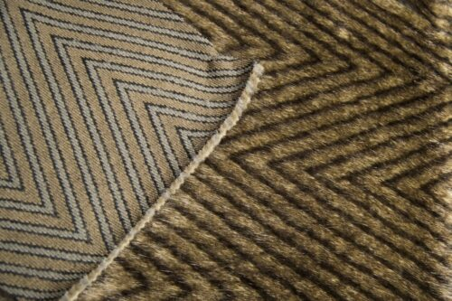 Faux fur by the metre Slate/Brown Textured Faux Fur Fabric By The Metre – 4014 Slate/Brown