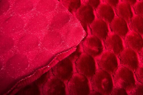 Faux fur by the metre Bright Red Textured Faux Fur Fabric By The Metre – 7514 Red