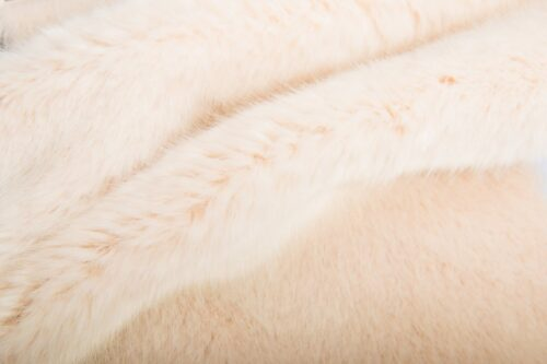 Faux fur by the metre Pink Mink Faux Fur Fabric By The Metre – 7573 Silver Peony