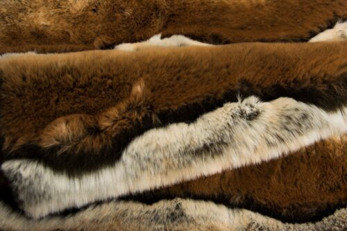 Faux fur by the metre Brown Chinchilla Faux Fur Fabric By The Metre – 7576 Brown Chinchilla