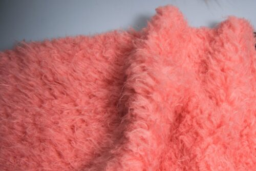 Faux fur by the metre Plush Teddy Pink Faux Fur Fabric By The Metre – 7579 Dusky Pink