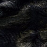 Faux fur by the metre Black/Silver Raccoon Faux Fur Fabric By The Metre – 7584 Black/Silver