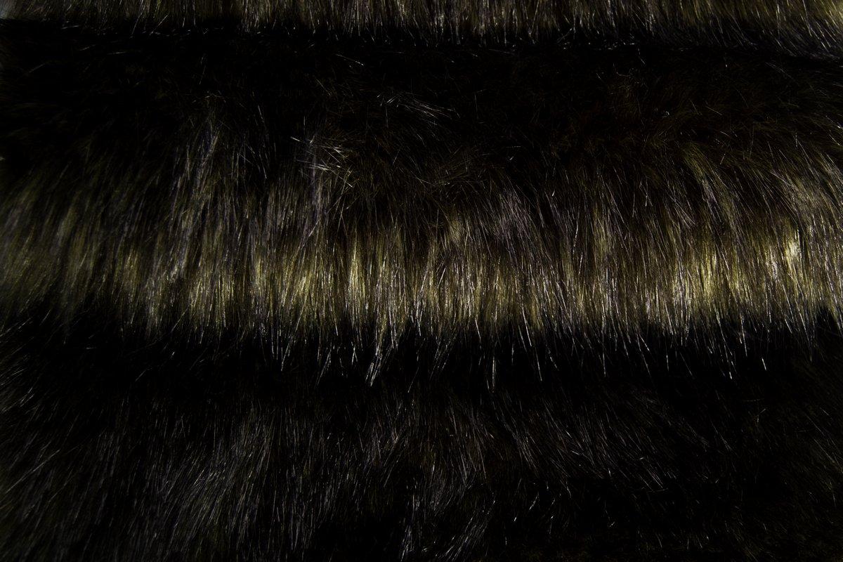 Bottle Green Rac Faux Fur Fabric By