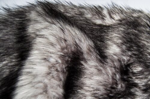 Faux fur by the metre Silver Raccoon Faux Fur Fabric By The Metre – 8100 Silver