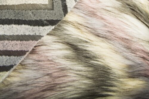 Faux fur by the metre Gradient Pink Yeti Faux Fur Fabric By The Metre – 8102 Pink/Cream