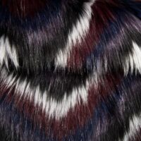 Faux fur by the metre Gradient Wine Red/Grey Faux Fur Fabric By The Metre – 8102 Wine/Grey