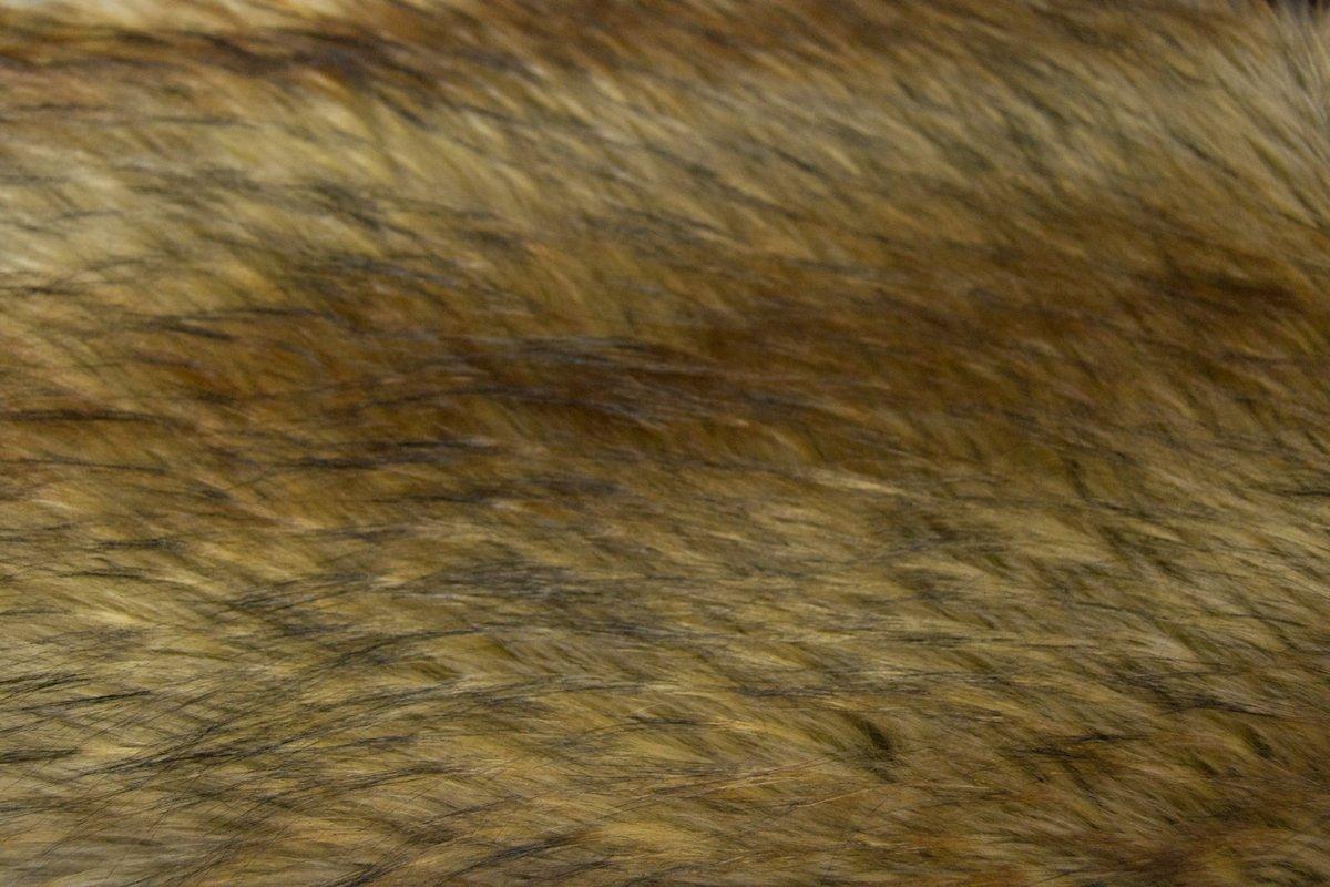 BROWN RACCOON Super Luxury Faux Fur Fabric Material