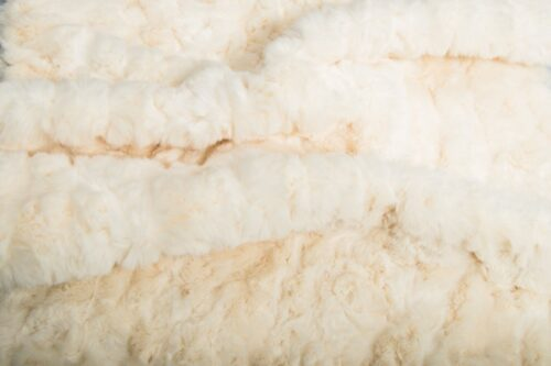 Faux fur by the metre Cream Textured Rabbit Faux Fur Fabric By The Metre – 8504 Cream