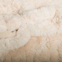 Faux fur by the metre Ivory Textured Rabbit Faux Fur Fabric By The Metre – 8504 Ivory