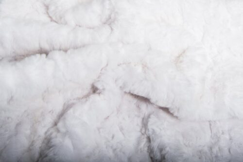Faux fur by the metre Snow White Textured Rabbit Faux Fur Fabric By The Metre – 8504 Snow White