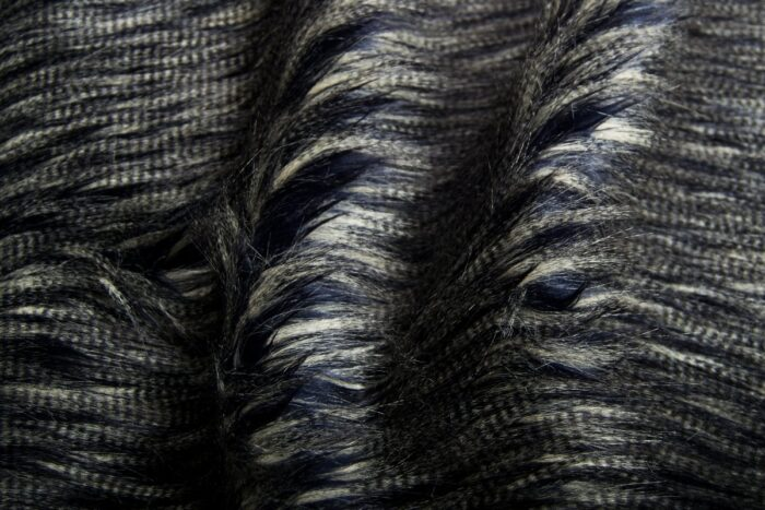 Faux fur by the metre Dark Blue Eyelashed Faux Fur Fabric By The Metre – 8509 Blue