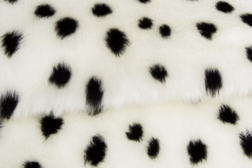 Faux fur by the metre Dalmatian faux fur fabric by the meter for disguise, costumes, cosplay – R2/60/2 FG 1/1 Dalmatier 101/1