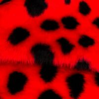 Budget faux fur Ladybird faux fur fabric by the meter for disguise, costumes, cosplay – Ladybird R2/60/2 800/9 107/1