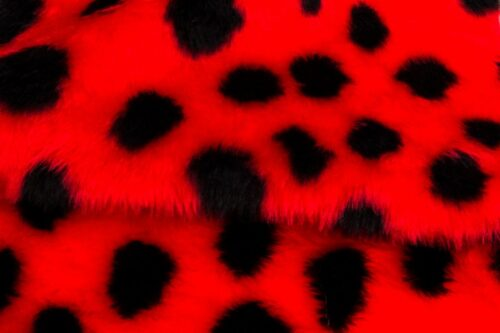 Faux fur by the metre Ladybird faux fur fabric by the meter for disguise, costumes, cosplay – Ladybird R2/60/2 800/9 107/1