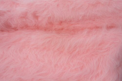 Budget faux fur Low Price Blossom Pink Longhaired Faux Fur – AC356-Blossom