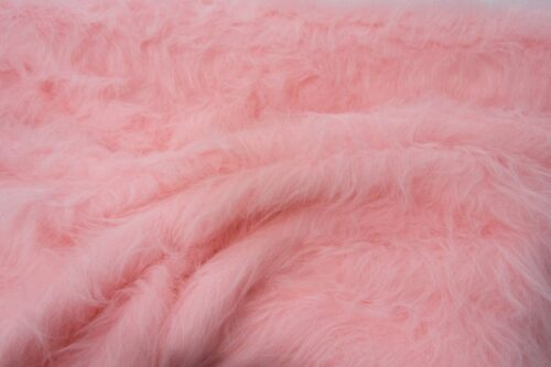 Faux fur by the metre Low Price Blossom Pink Longhaired Faux Fur – AC356-Blossom