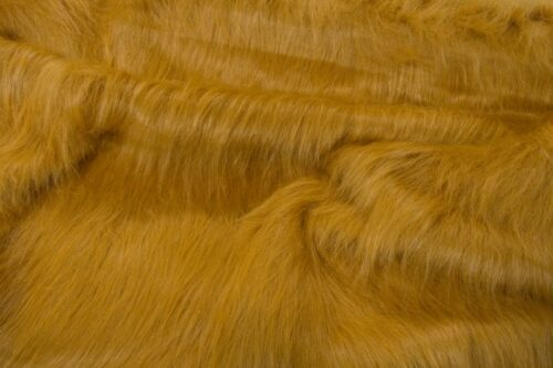 Faux fur by the metre Low Price Honey Brown Longhaired Faux Fur – AC356-Honey