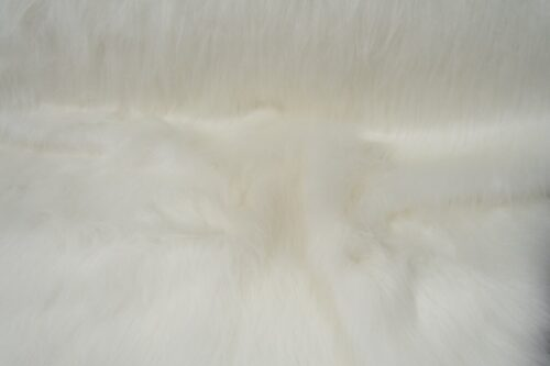 Budget faux fur Low Price White Longhaired Faux Fur – AC356-White