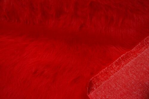 Faux fur by the metre Low Price Red Longhaired Faux Fur – AC356-R-Red