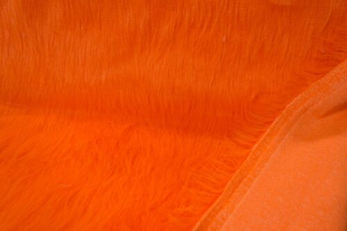 Faux fur by the metre Low Price Orange Longhaired Faux Fur – AC356-Tangerine