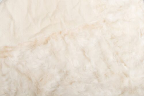 On Sale Now Super soft ivory pleated faux fur fabric – 1164 ivory