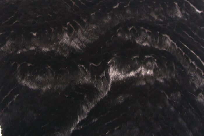 On Sale Now Super Soft Textured Chevron Black Faux Fur Fabric By The Metre – 1520 Black