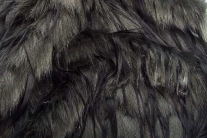 Faux fur by the metre Dark Green Raccoon Faux fur fabric by the metre – 1604 Green/Black