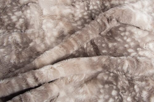 Faux fur by the metre Grey Antelope Faux fur fabric by the metre – 2RK367 Grey