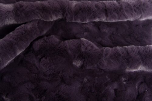 Faux fur by the metre Purple Textured Rabbit Faux Fur Fabric By The Metre – 3092 Dusky Purple