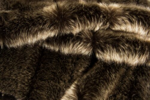 On Sale Now Brown Wolf Faux fur fabric by the metre – 7537 Brown Wolf