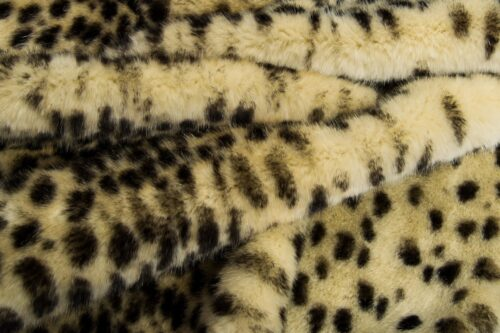 Faux fur by the metre Beige Leopard Faux fur fabric by the metre – 7580 Beige Leopard