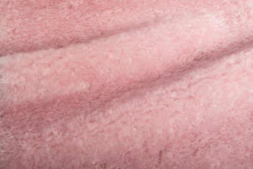 Faux fur by the metre Old Pink Teddy Faux fur fabric by the metre – 8510 Old Pink