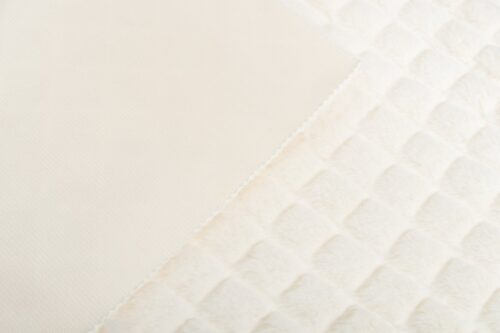 Faux fur by the metre Diamond Textured Cream Faux fur fabric by the metre – 8511 Cream Diamond