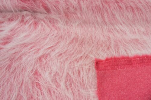 Budget faux fur Barbie pink frost long-haired faux fur fabric by the metre – YF 306 Barbie Pink Frost