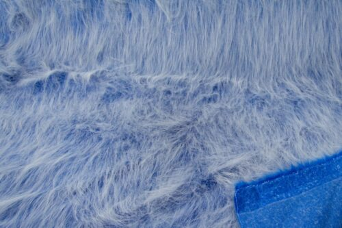 Budget faux fur Cobalt blue frost long-haired faux fur fabric by the metre – YF 306 Cobalt Frost