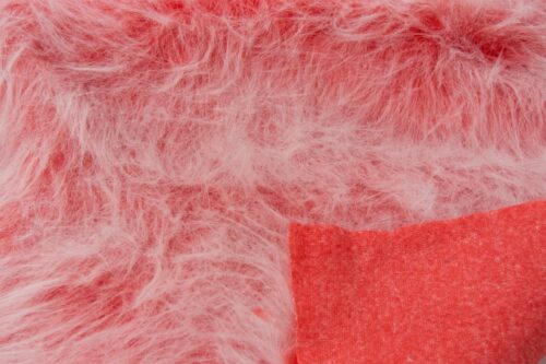 Budget faux fur Red frost long-haired faux fur fabric by the metre – YF 306 Red Frost