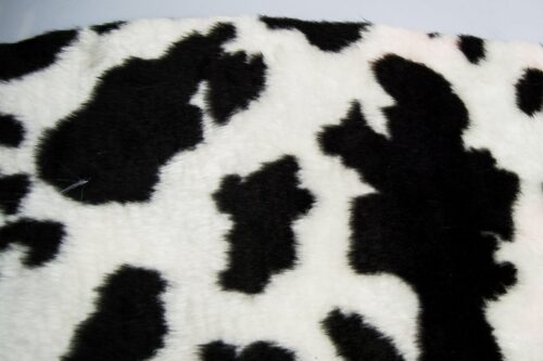 Budget faux fur Cow faux fur fabric by the meter for disguise, costumes, cosplay – R2/60 100/1