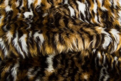 Faux fur by the metre Ocelot faux fur fabric by the meter for disguise, costumes, cosplay – R2/60 313/1 Ocelot