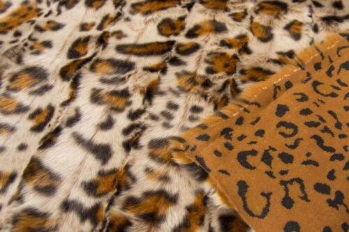 Faux fur by the metre Bronze Leopard Faux Fur Fabric By The Metre – 1652 Bronze